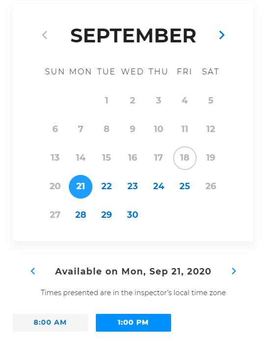 ScheduleNow Date Picker